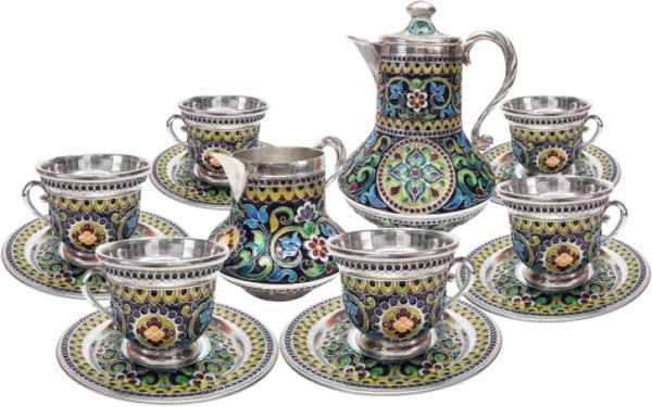 """Coffee service """"Muse of the Summer Garden"""" for 6 persons"""