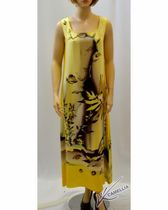 """Dress made from natural silk with hand-painted """"WATER WORLD"""""""