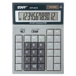 Desktop calculator STAFF STF-3312 (193х140 mm), 12 digits, dual power supply, COMPUTER KEYS