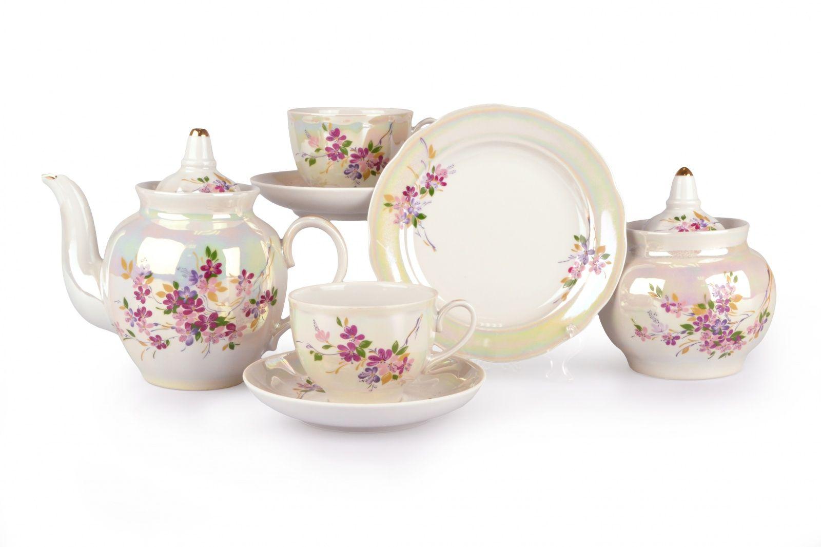 Dulevo porcelain / Tea set 20 pcs Pomegranate Ledum