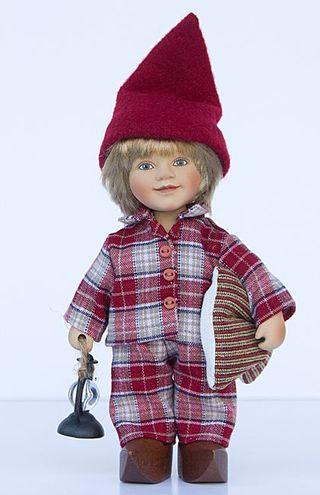 Birgitte Frigast / Porcelain doll Lars, 22 cm