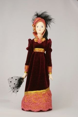 Doll gift porcelain. The lady in visiting dress.1880th