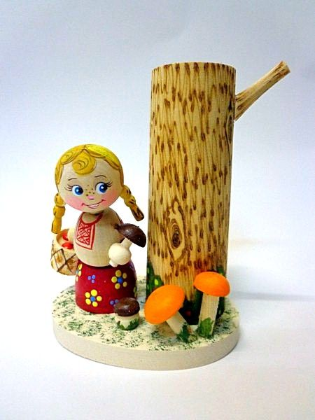 "Tver souvenirs / Pencil holder ""For mushrooms"""