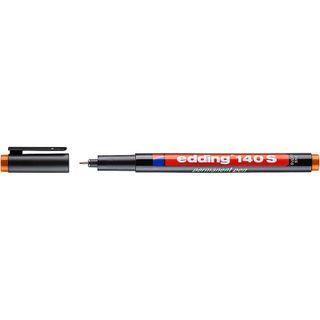 Edding / Permanent marker, for projection films, round tip, 0.3 mm Orange