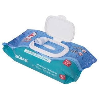 LIME / Wet wipes, 72 pieces, Antibacterial, antibacterial, valve cover