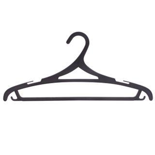 Shoulder hangers, size 46-48, SET 3 pieces, plastic, flat, crossbar, hooks, black, LOVE