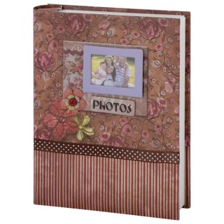 BRAUBERG photo album for 200 photos 10x15 cm, hard cover, Family, Boxing, red-brown
