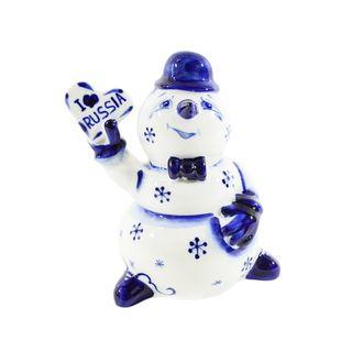 The sculpture Snowman heart 1st grade, Gzhel Porcelain factory