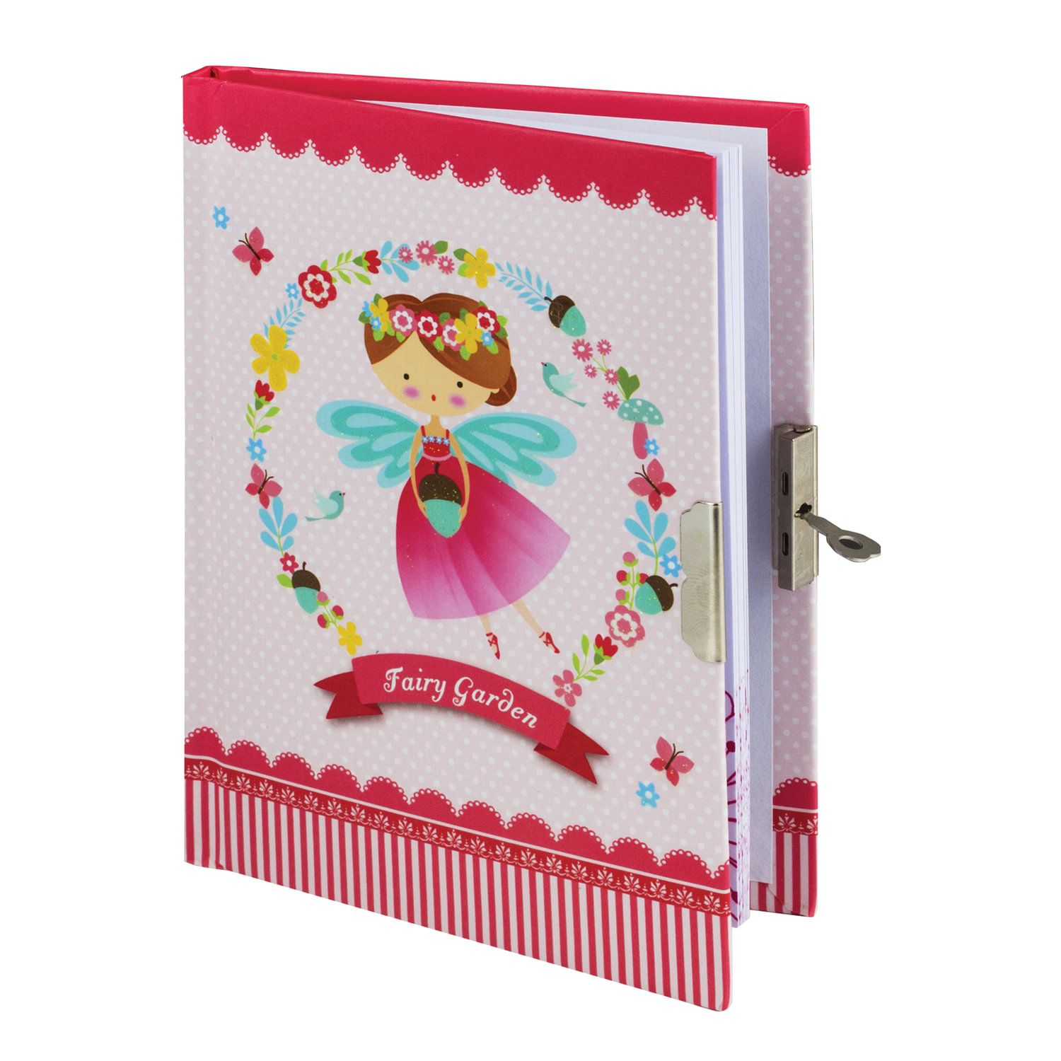 """BRAUBERG / Notebook """"Little fairy"""", 56 sheets A5 (133x178 mm), hardcover, metal lock, sequins, gift wrapping, line"""