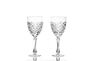 A set of crystal wine glasses, colorless 6 pieces