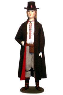 Doll gift. Estonian men's suit mid 19th century. Region: Halleste.