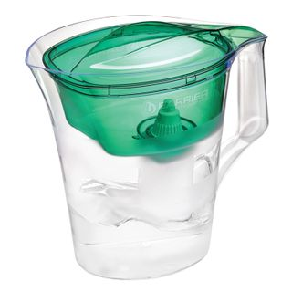 Water-cleaning jug , 4 litres, with interchangeable cassette, green
