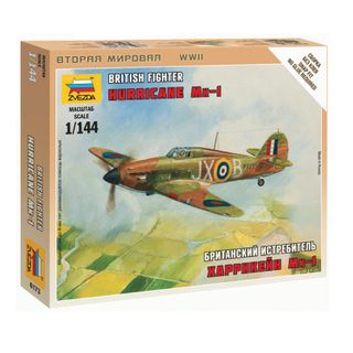 Model for assembly OF the British MK-1 Hurricane Fighter, scale 1:144, STAR
