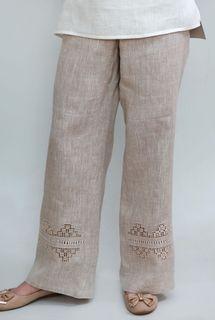Pants womens linen 9-180