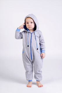 Overalls 615F gray-red