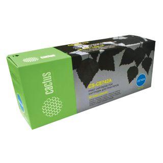 HP LaserJet CP5225 / 5225N Yellow Toner Cartridge CACTUS (CS-CE742A), yield 7300 pages.
