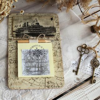 Handmade gift Fridge magnet Steamboat with block for notes