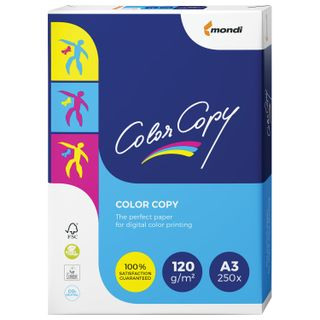COLOR COPY / Paper LARGE SIZE (297x420 mm), A3, 120 gsm, 250 sheets, for full color laser printing, A ++, Austria, 161% (CIE)