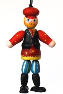 Doll gift the Man in Russian folk costumes of Tver province
