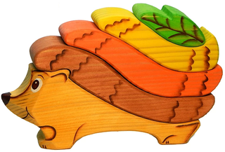 Hedgehog bright - colorful developing toy (handmade)