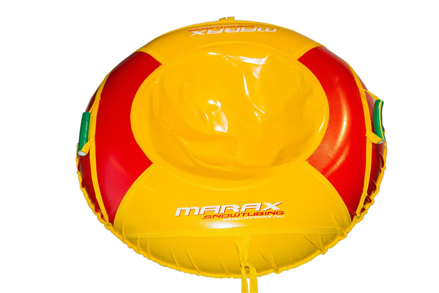 Three-color inflatable tubing for skiing from the mountains for children and adults