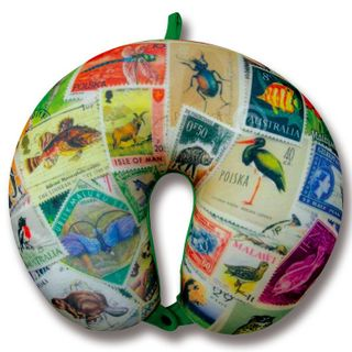 "Anti-stress neck pillow tourist ""Traveler"" 3(Stamps)"
