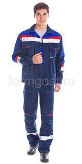 """Costume """"Leader"""" jacket (twill fabric), blue+cornflower"""