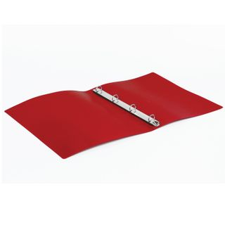 Folder on 4 rings STAFF, 25 mm, red, up to 170 sheets, 0.5 mm