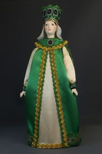 Souvenir doll in the ancient Russian royal costume of the 16th century