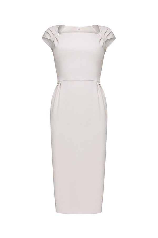 """Dress with draping on the shoulders and long ties-belts """"Meghan"""""""