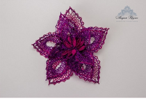 Lace brooch 'Violet'
