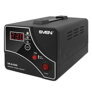 SVEN / Voltage stabilizer VR-A1000,1000VA / 600 W, 1 socket, input voltage 140-275 V