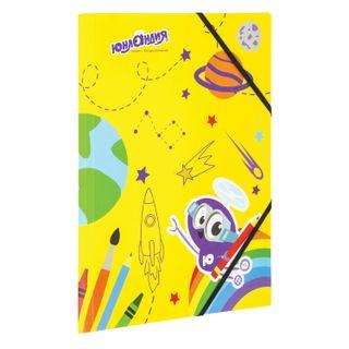Folder on elastics INLANDIA, A4, color printing, up to 300 sheets, 500 µm