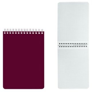 HATBER / Bordeaux notebook, 60 sheets A5 (145х212 mm), comb, lacquered cover, cage