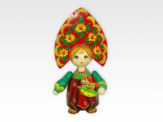 Doll Russian average with an element - Souvenir