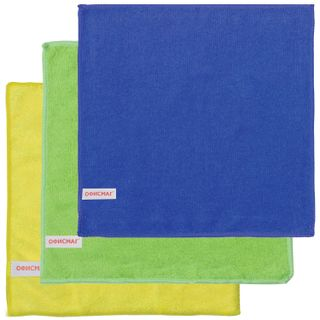 OFFISMAG / Universal napkins, microfiber, 25x25 cm, assorted (blue, green, yellow), SET 3 pcs.