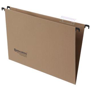 Hanging folder A4/Foolscap (406х245 mm), up to 80 sheets, SET of 10 PCs., cardboard, BRAUBERG (Italy)