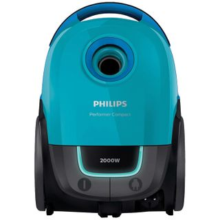 Vacuum cleaner PHILIPS FC8389/01, with dust bag, 2000 W suction power 350 W, turquoise