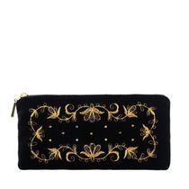 Velvet ochechnik 'Waltz' black with golden embroidery