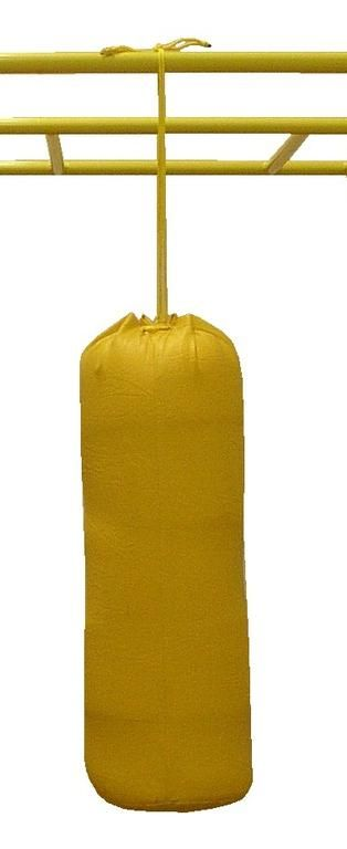 Punching bag filled with foam
