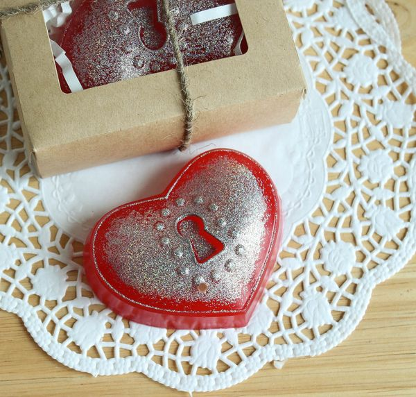 Handmade soap with glycerin Heart