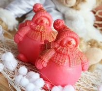 Berry the Snowman - the author's homemade olive soap gift