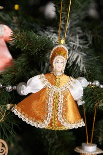 Christmas toy from China the Girl in the Golden dress, 12 cm