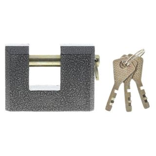 The padlock, 90 mm wide, cast iron, arch d-13 mm, Finnish, 3 keys, SIBBTECH