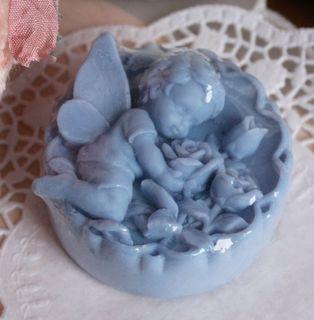 Flower blueberry fairy - handmade olive soap