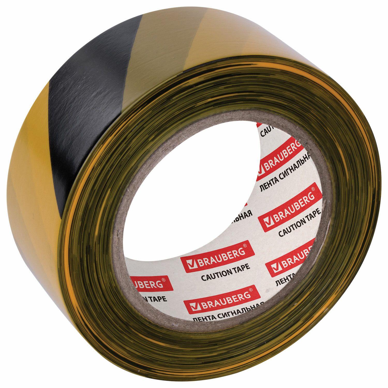 "BRAUBERG / Signal tape ""Grandmaster"" yellow-black, 50 mm х 200 m, polyethylene base"