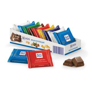 RITTER SPORT / Chocolate portions 1 assorted bar, 16.7 g