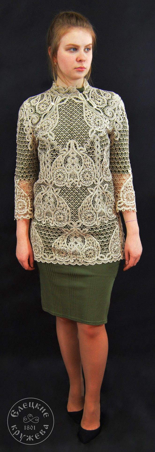 Yelets lace / Women's lace tunic С1889