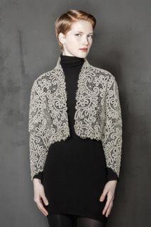 Women's lace jacket cropped shape