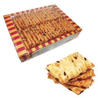 OZBI FAMILY / Lingering cookies with raisins, apple and cinnamon, 625 g, corrugated box